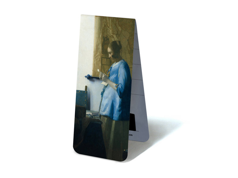 Magnetisches Lesezeichen, Frau mit Brief, Vermeer