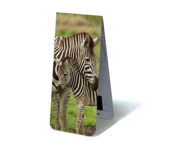 Magnetic Bookmark, Zebra with calf