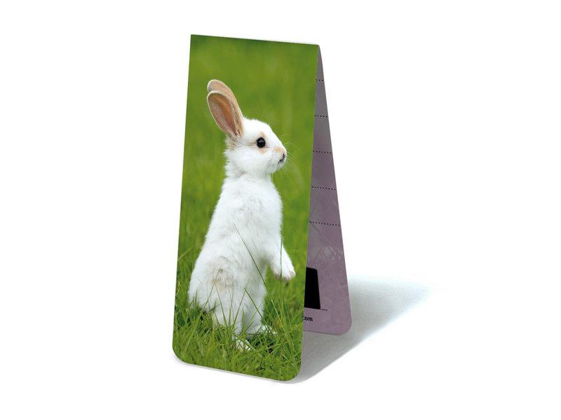 Magnetische Boekenlegger, Klein wit konijn