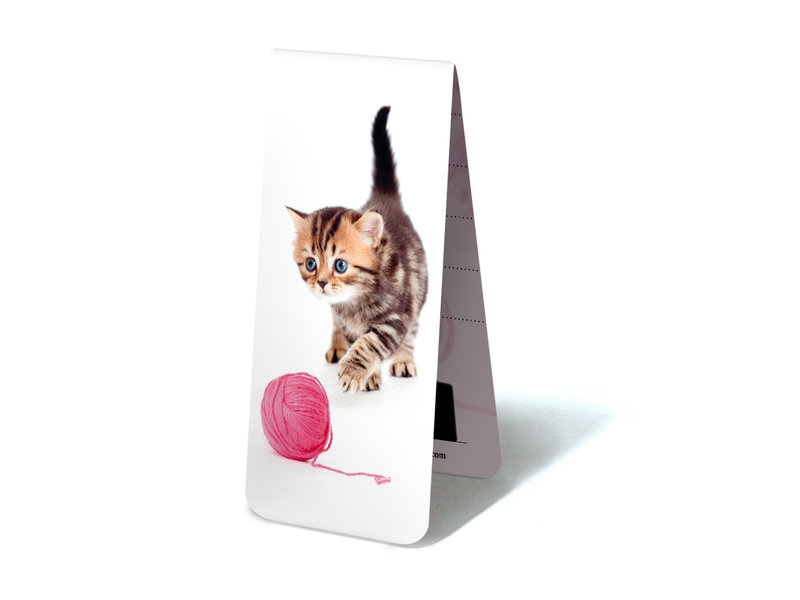Magnetic Bookmark, Kitten with wool
