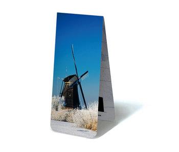 Magnetisches Lesezeichen, Mühle im Winter