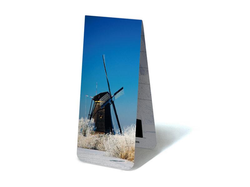 Marque-page magnétique, Moulin en hiver