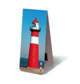 Marque-page magnétique, phare rouge et blanc