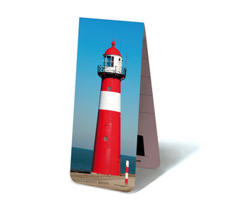 Magnetic Bookmark, Lighthouse red and white