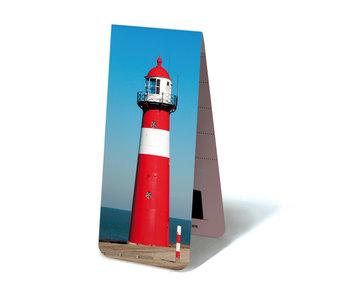 Magnetisches Lesezeichen, Leuchtturm Rot und Weiß