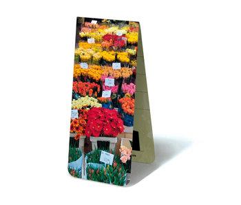 Marcador magnético, establo de flores