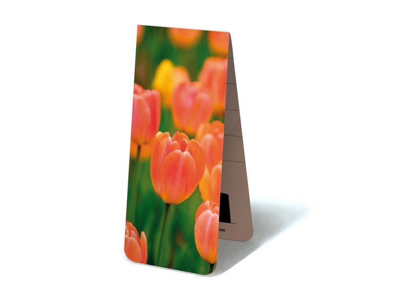 Magnetische Boekenlegger, Tulpen Licht oranje