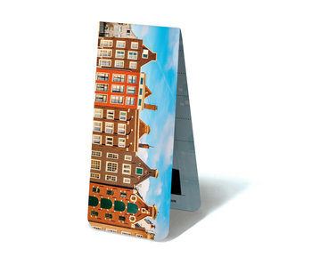 Magnetic Bookmark, Amsterdam canal houses, top details