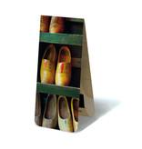Marcador magnético, zapatero de madera