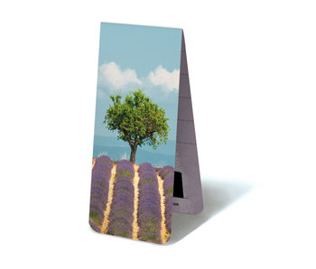 Magnetic Bookmark, Lavender field with tree