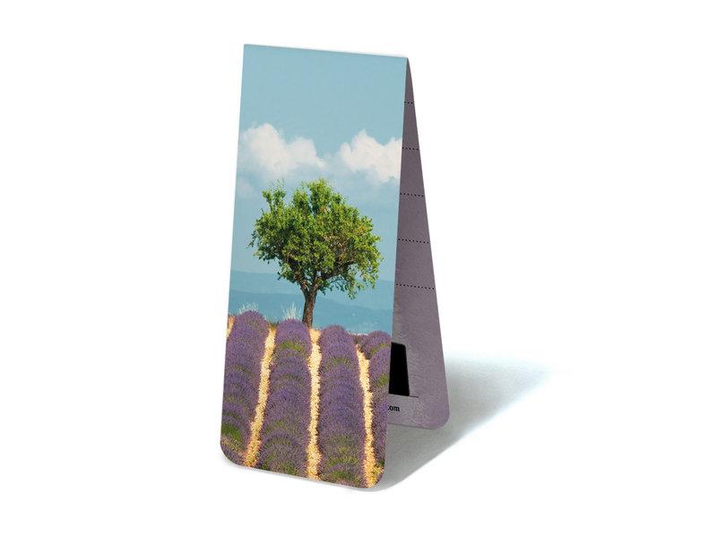 Magnetisches Lesezeichen, Lavendelfeld mit Baum
