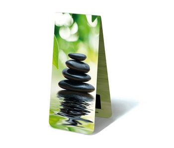 Marcapaginas magnético, piedras, zen