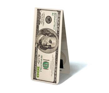 Marcapaginas magnético, nota de 100 dólares