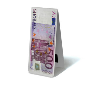 Magnetische Boekenlegger, 500 Euro Biljet