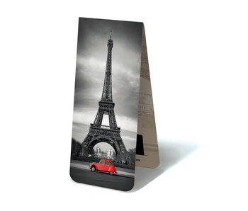 Magnetic Bookmark, Eiffel Tower, with red 2cv