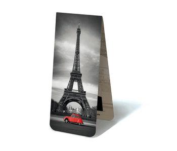 Magnetisches Lesezeichen, Eiffelturm, mit rotem 2CV