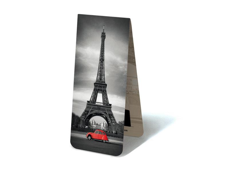 Magnetische Boekenlegger, Eiffeltoren, met rode 2CV