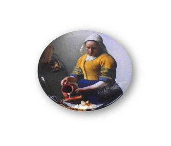 Miroir de poche, Ø 60 mm, laitière, Vermeer