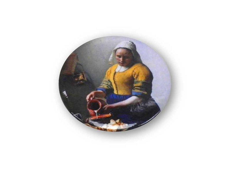 Spiegeltje,Ø 60 mm , Het melkmeisje, Vermeer