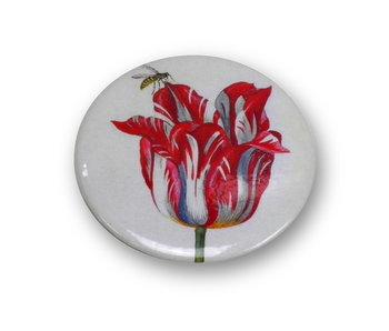 Taschenspiegel, Ø 60 mm, Marrel, Tulpe mit Biene