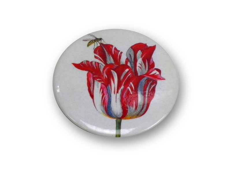 Miroir de poche, Ø 60 mm, Marrel, Tulipe avec abeille