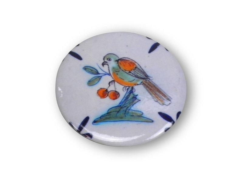 Taschenspiegel, Ø 60 mm, Delfter blauer Vogel