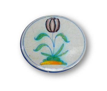 Spiegeltje, klein, Ø 60 mm,  Delfts Blauwe Tulp