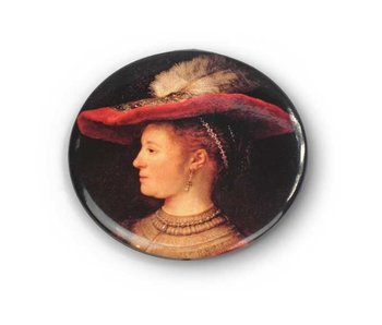 Pocket Mirror,Ø 60 mm,  Small, Saskia, Rembrandt