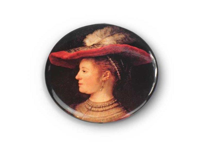 Taschenspiegel, Ø 60 mm, klein, Saskia, Rembrandt