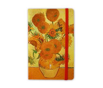 Cuaderno de tapa blanda A6, girasoles, 1888, Van Gogh