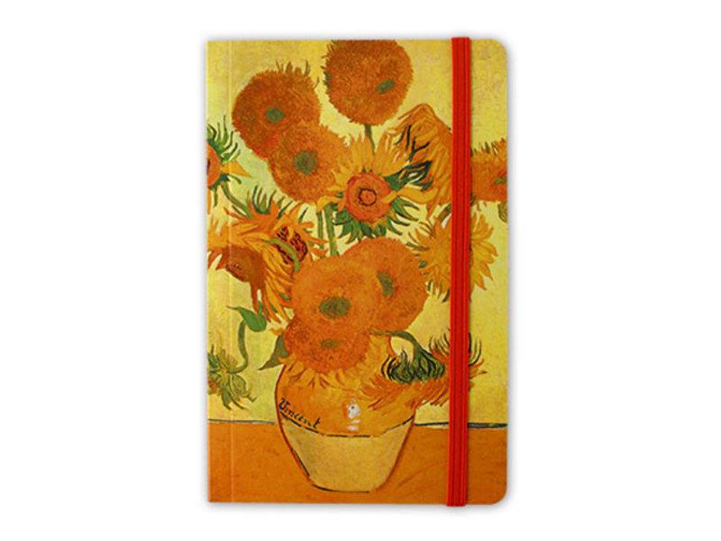 Cuaderno de tapa blanda, girasoles, 1888, Van Gogh