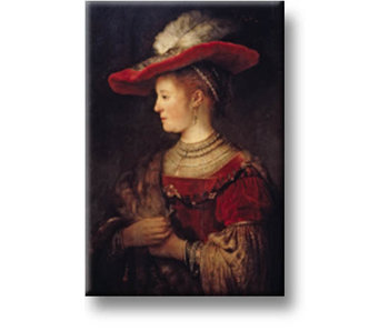 Magnet de réfrigérateur, Saskia, Rembrandt