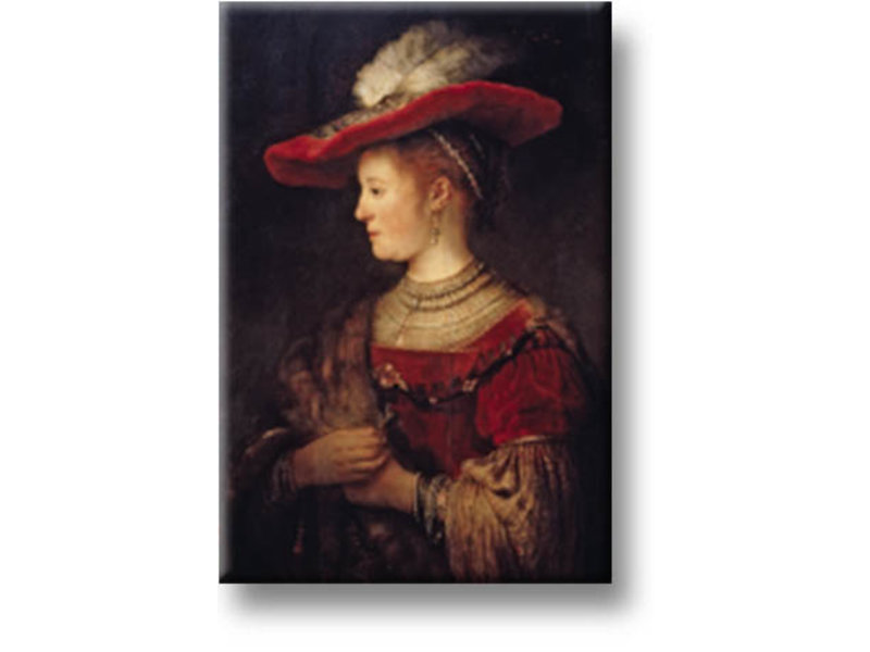 Koelkastmagneet, Saskia, Rembrandt