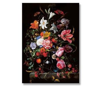 Plakat, 50x70, De Heem, Vase mit Blumen