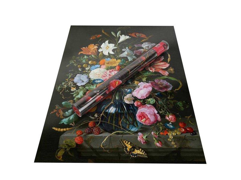 Poster, 50x70, De Heem, Vaas met bloemen