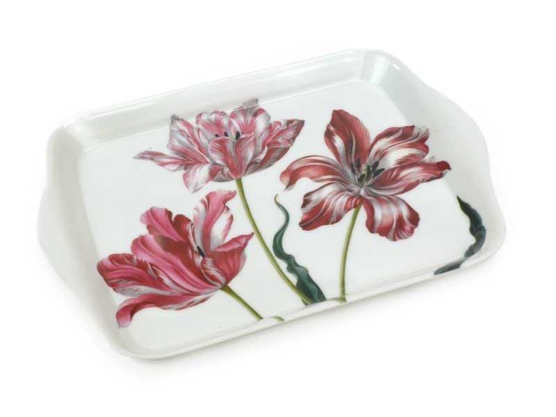 Mini bandeja, 21 x 14 cm, tres tulipanes, Merian