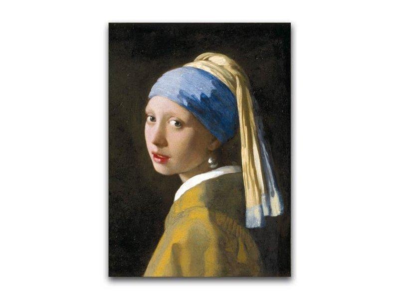 Plakat, 50x70, Mädchen mit einem Perlenohrring, Vermeer