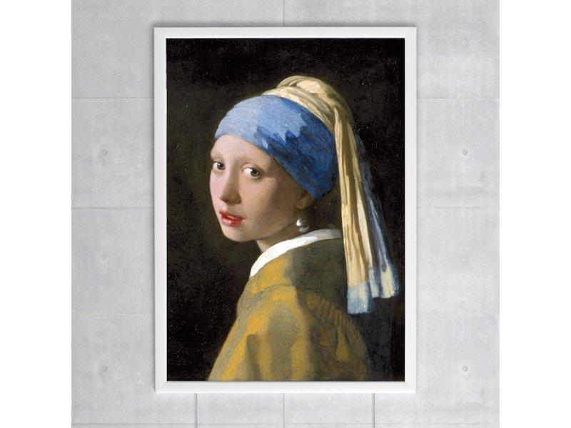 Cartel, 50x70, Chica con un arete de perla, Vermeer