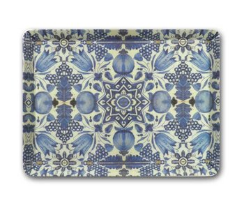Midi serving  tray (27 x 20 cm), Delft Blue tulips