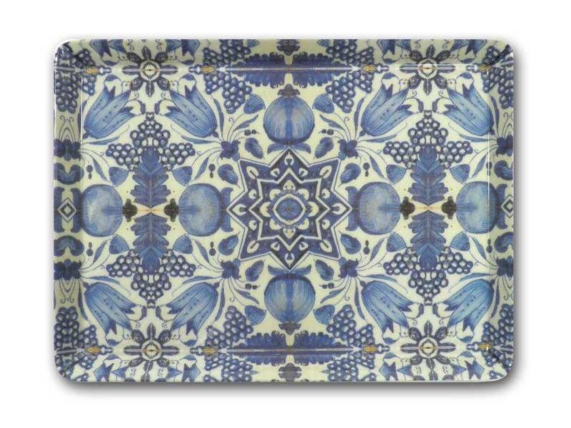 Midi serving  tray (27 x 20 cm), Delft Blue tulips