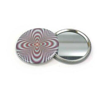 Spiegeltje,  Ø 60 mm, Op-Art 2