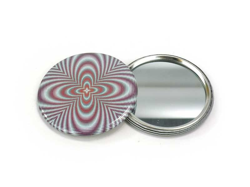 Spiegeltje, klein, Ø 60 mm, Op-Art 2