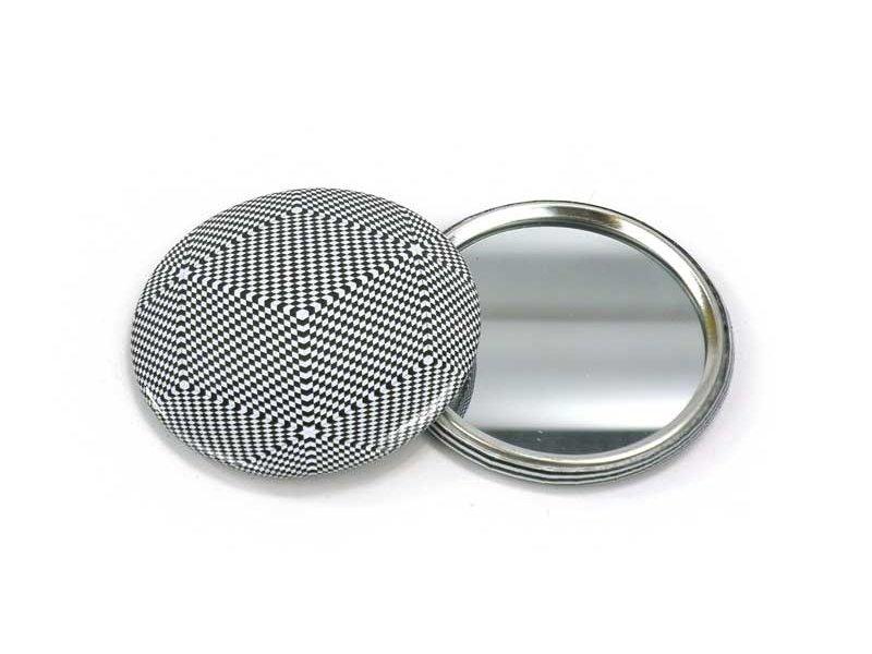 Spiegeltje, klein, Ø 60 mm,   Op-Art 1