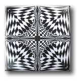 Kühlschrankmagnet, Optische Kunst OA 17