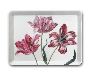 Plateau midi (27 x 20 cm), Trois tulipes, Merian