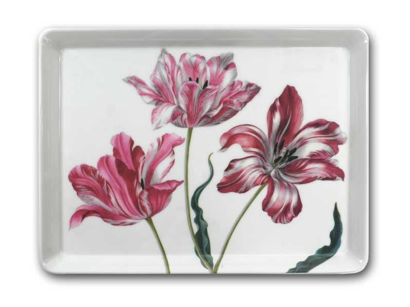 Midi-Tablett (27 x 20 cm), drei Tulpen, Merian