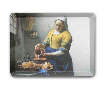 Midi dienblad (27 x 20 cm)  Het melkmeisje, Vermeer