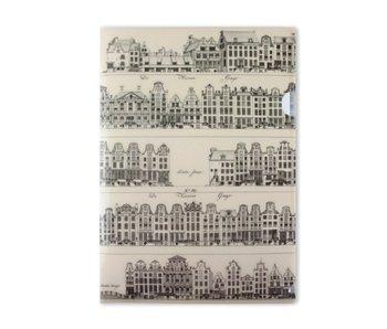 Porte-documentsA4, Maisons du canal, Amsterdam, Jacobszoon