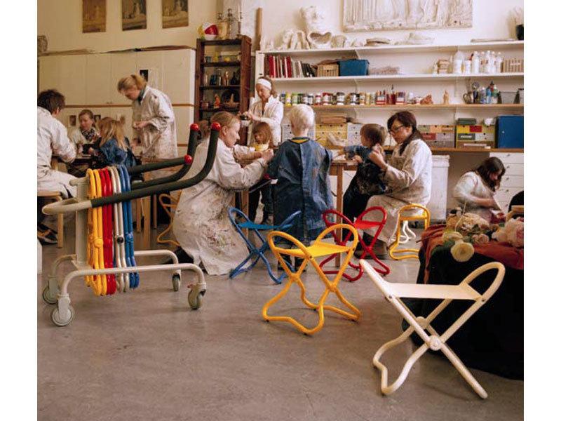 Museum Chair Kids YELLOW 59 x 35 x 4,2 c