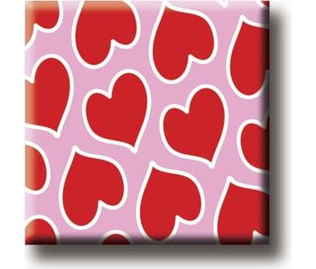 Fridge magnet, Hearts pattern